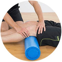 Chiropractor Treating Knee