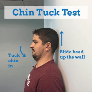 stiff-neck-chin-tuck-test