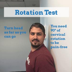 Stiff-Neck-rotation-test